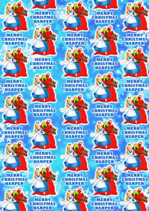 ALICE IN WONDERLAND Personalised Christmas Gift Wrap - Alice Wrapping Paper
