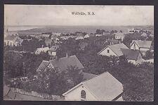 Circa 1907 Vintage Postcard Bird's Eye View WOLFVILLE, Nova Scotia Canada