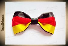 Hand Sewn Pre-tied Silk Bowtie (German Germany Flag Colors)  (a30)
