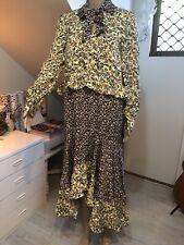 REBECCA VALLANCE Size 8-10-12 Floral Prairie Dress Long Sleeve
