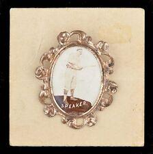 1915 PM1 Ornate Frame Border Pin Pinback Tris Speaker