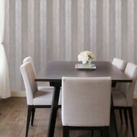 Wallpaper Rose Pink Silver Metallic Striped Modern Rolls Textured Lines Stripes