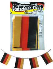 Deutschland Flaggenkette Girlande Wimpelkette Fahne Flagge EM WM Deko Fussball