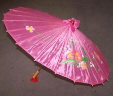2 Wooden Umbrellas Parasol new womens vintage wood umbrella hand made painted