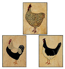 Roosters 25 Rooster Chickens Black Tan 25 Wallies Stickers Warren Kimble Decals