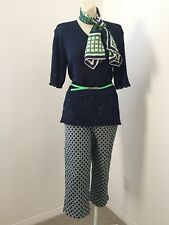 Womens Clothing Lot Outfit 10 M/L Casual Pants Sweater Scarf 4pc Cruise Wear