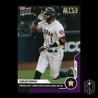 Carlos Correa - MLB TOPPS NOW® Card 422 - Houston Astros Purple Parallel /25