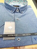 KINGSIZE COTTON VALLEY BLUE OXFORD SHIRT 2XL3XL4XL5XL6XL7XL8XL