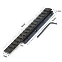 Taubenschwanz 11mm to 20mm Weaver Schiene Halterungs-Adapter Konverter Steigrohr