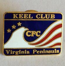 Keel Club CFC Virginia Peninsula Sailing Pin Badge Sports Collectable (E5)