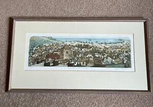 "GLYNN THOMAS RE b1946 79/150 ETCHING ""Rooftops Old Hastings"