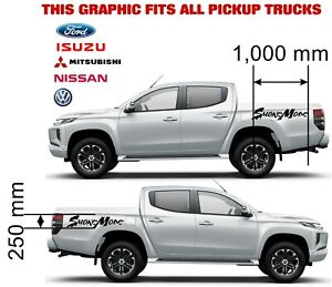 SMOKEMODE VEHICLE GRAPHICS DECALS STICKERS x2 fits all pickups FORD VW L200