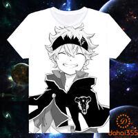 Anime Black Clover Otaku Casual Cool Short Sleeve Unisex T-shirt Tee Tops #G1