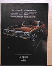 1969 magazine ad for Chrysler - Newport Custom hardtop, The Affordable Dream