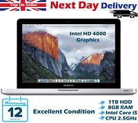 "Apple MacBook Pro 13.3"" Intel Core i5 2.50GHz 8GB RAM 1TB HDD Mid 2012 A Grade"