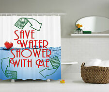 Sexy Invitation Save Water Shower with Me Sexy Decor Funny Adult Shower Curtain
