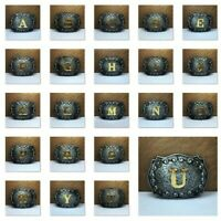 Classic Western Cowboy Texas Rodeo Initial Letters Belt Buckle Mens Jewelry A-Z