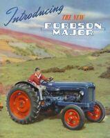 Fordson MAJOR DEXTA Cutaway Vintage Muy Raro Folleto cartel anuncio A3