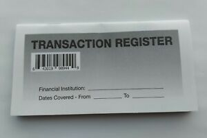 10 - Checkbook Transaction Registers - 2021-23 Calendar - Check Book Bank
