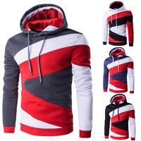 Men's Winter Fleece Hoodie Warm Hooded Pullover Sweatshirt Coat Jacket Sportwear