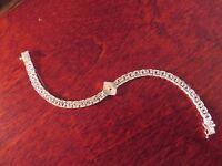Schönes Elegantes 925 Silber Armband Kubus Quadrat Vintage Luxus Chic Sterling