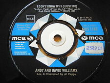 """ANDY & DAVID WILLIAMS - I DON'T KNOW WHY I JUST DO   7"""" VINYL"""