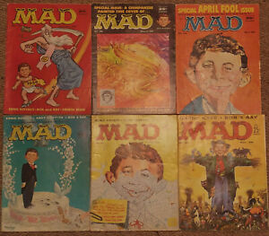 Mad Magazines - 6 early issues from #37 to #43 (1958)