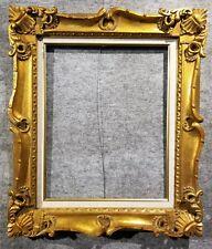 """4"""" Gold VINTAGE ANTIQUE FINE HAND-CARVED PICTURE FRAME  Frames4art 1178GL 16x20"""