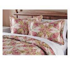 Antique Garden Quilt Full Queen King Floral Patchwork Print NEW