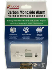 Carbon Monoxide Detector Battery Operated CO Alarm Digital Display by Kidde NEW