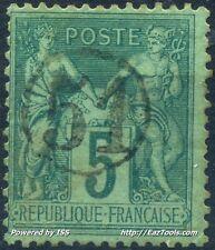 FRANCE TYPE SAGE N° 75 BELLE OBLITERATION JOUR DE L'AN N° 51 A VOIR