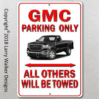 GMC Truck Parking only Aluminum sign with All Weather UV Protective Coating