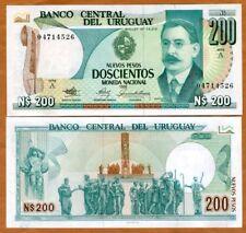 Uruguay, 200 Nuevo Pesos, 1986, P-66,  UNC