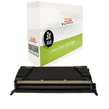 3x Patrone BLACK ersetzt Lexmark C736H2KG