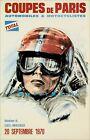 Coupes De Paris 1970 Car Motorcycle Racing Vintage Poster Print Retro Style