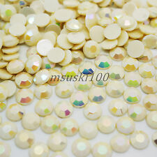 1000 Crystal Flat Back Acrylic Rhinestones Gems 1mm 2mm 3mm 4mm 5mm 6mm 8mm 10mm