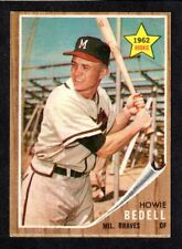 1962 Topps #76 Howie Bedell  MILWAUKEE BRAVES  EX +   A