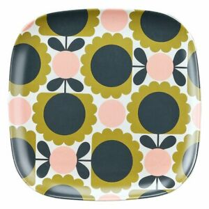 Orla Kiely Bamboo Side Plate - Scallop Flower Forest