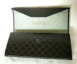Genuine Gucci Foldable Spectacle Glasses Eyeglasses CASE Trifold Sunglasses MINT