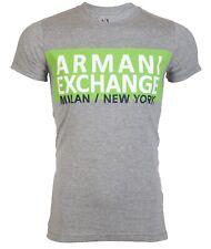 Armani Exchange AN-06 Men Designer T-SHIRT Premium HEATHER GREY Slim Fit $45 NEW