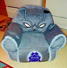 "Marvel Super heroes Bean Bag kid Chair 21"" Black Panther comic hero RARE Silver"