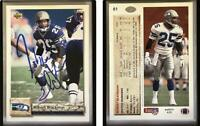 Robert Blackmon Signed 1992 Upper Deck #61 Card Seattle Seahawks Auto Autograph