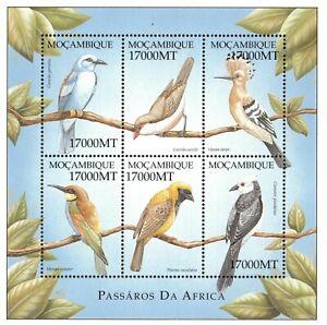 Mozambique 2002 - Birds of Africa - Sheet of 6 - Scott 1580 - MNH