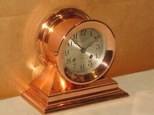 Chelsea Antique Ships Bell Clock~Admiral Model~4 1/2 ~1919~Red Brass~Hinged