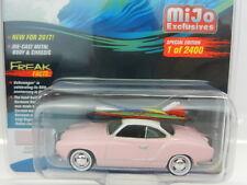 2017 Johnny Lightning *SURF RODS* PINK 1964 VW Volkswagen Karmann Ghia *MIJO EX*