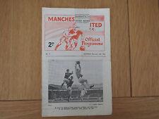 Manchester United V Sheffield Wednesday Reserves   1964/5