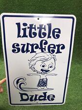 Little Surfer Dude Metal Surf Sign,Seaweed Surf Co. 18� X 12�