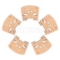 5 Pcs 4/4 Violin Bridge Full Size Maple Wood for Violin Parts