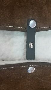 maui barrel vest extenders x4 with dull silver press studs #80