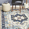 CARSTEN IVORY BLUE BEAUTIFUL LUXURIOUS MOROCCAN MODERN FLOOR RUG - 4 Sizes *NEW*